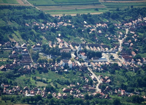 The village seen from the Szekely Rock